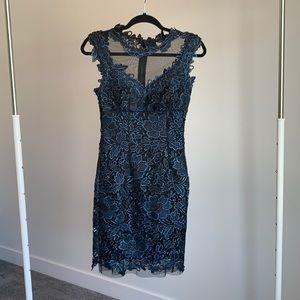 CACHÉ Blue Lace Cocktail Dress